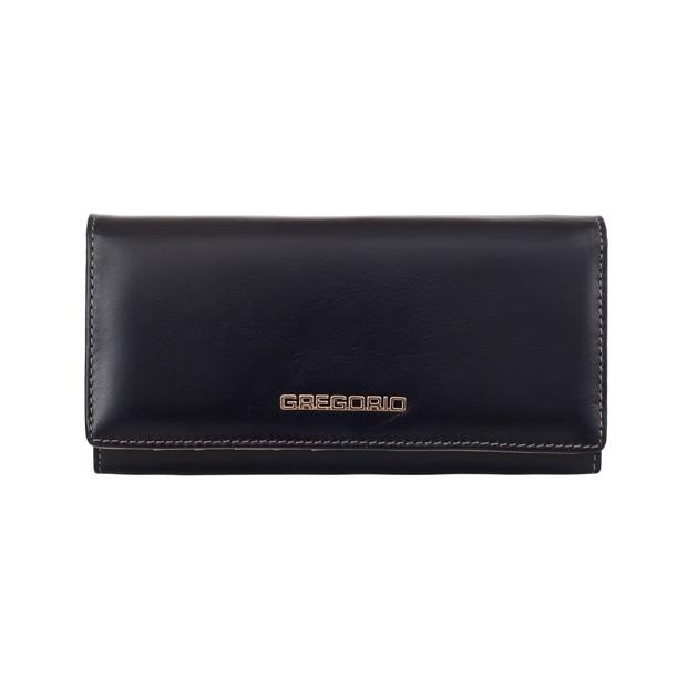 Gregorio - Skórzany duży damski portfel granatowy (N100-BLUE)
