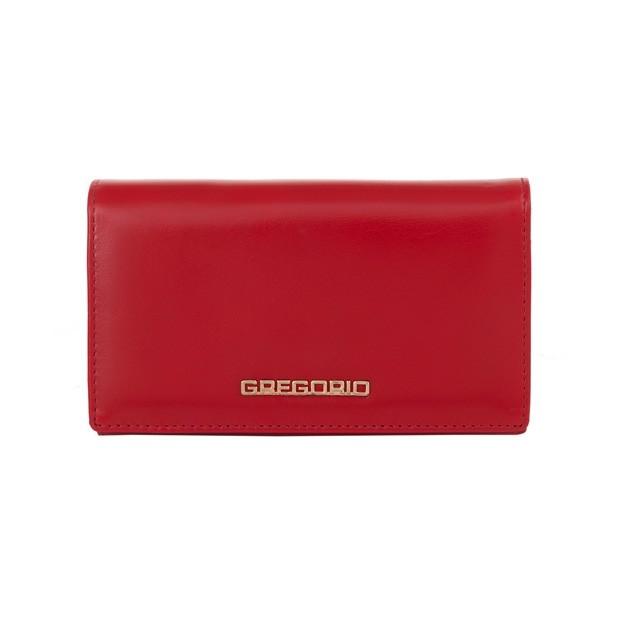 Gregorio - Skórzany damski portfel czerwony (N101-RED)