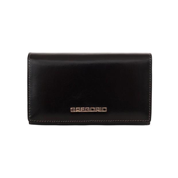 Gregorio - Skórzany damski portfel czarny (N101-BLACK)