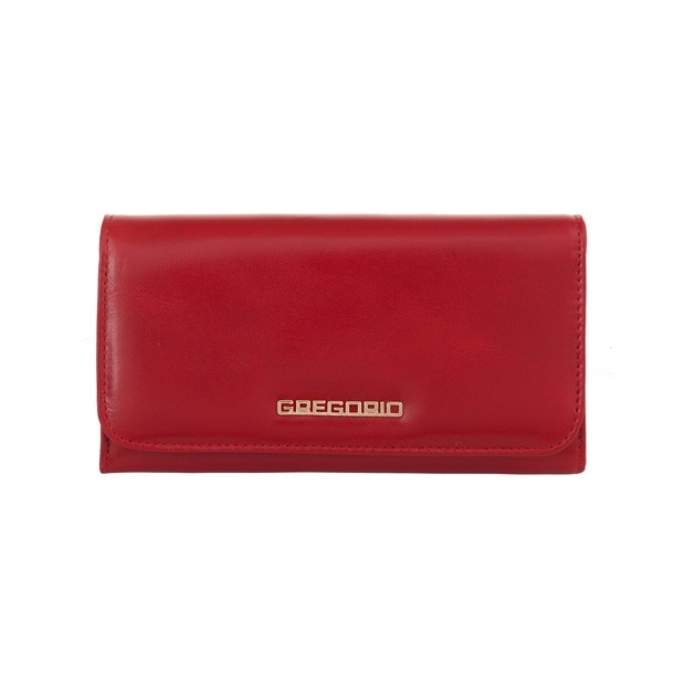 Gregorio - Skórzany damski portfel czerwony (N110-RED)