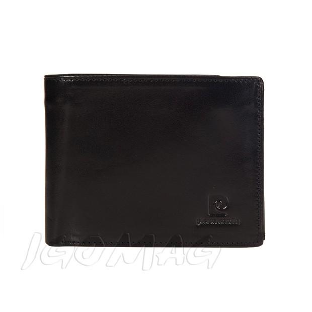 Pierre Cardin - Skórzany męski portfel czarny (325-503C)