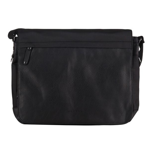 Bever's - Męska duża torba na ramię czarna A4 (114-5)
