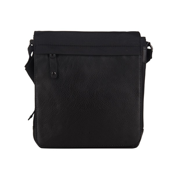 Bever's - Męska torba listonoszka na ramię czarna (114-4)
