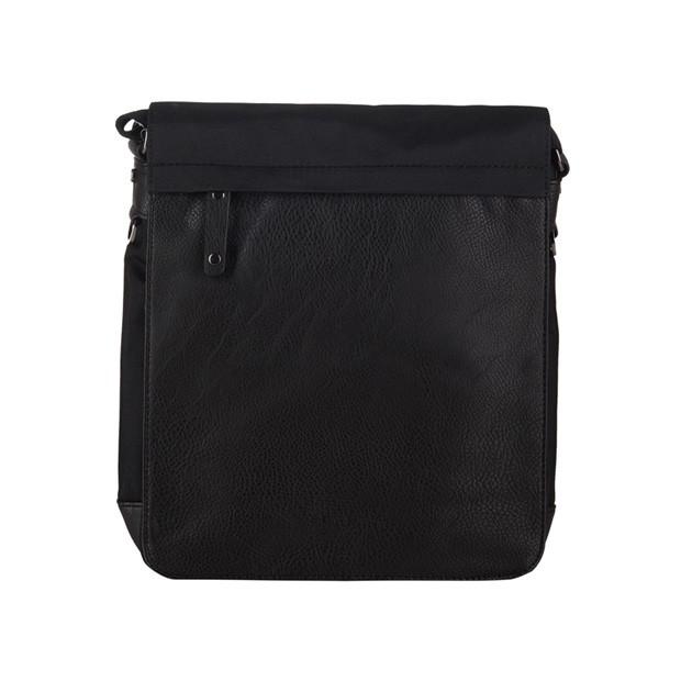 Bever's - Męska duża torba listonoszka na ramię czarna A4 (114-6)