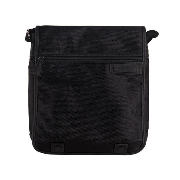 Bever's - Męska duża torba listonoszka na ramię czarna A4 (354-5)