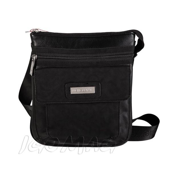 Pierre Cardin - Męska mała torba listonoszka na ramię czarna (T320)