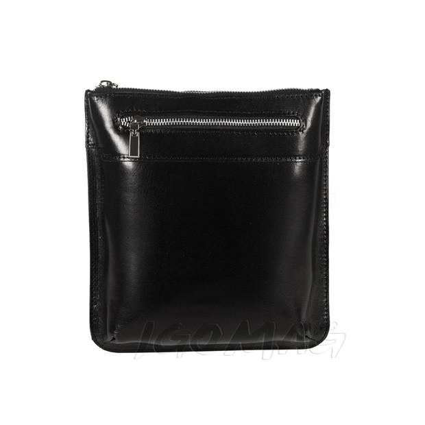 Męska torba listonoszka na ramię czarna (T363)