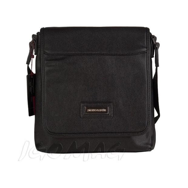 Pierre Cardin - Męska torba listonoszka na ramię czarna (T365)