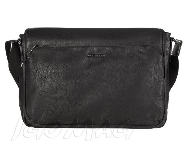 David Jones - Męska torba miejska na ramię czarna A4 (T370)