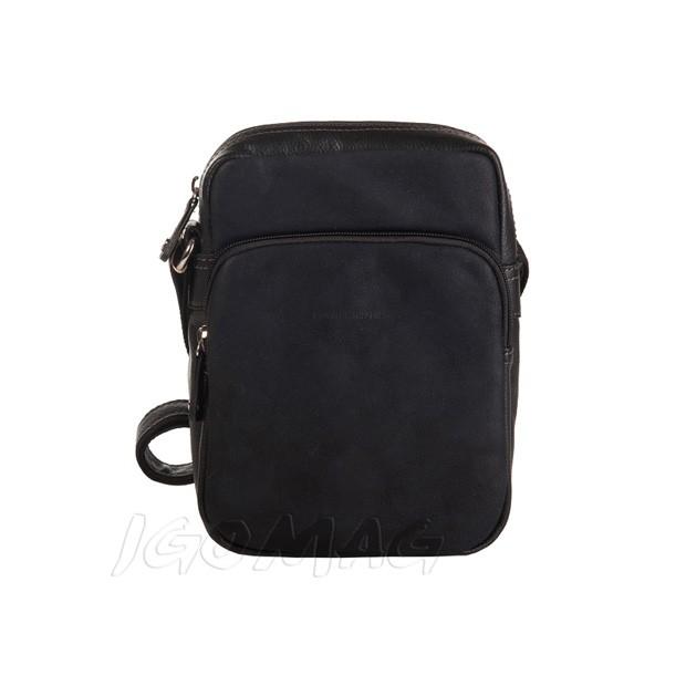 David Jones - Męska mała torba listonoszka na ramię czarna (CM8079)