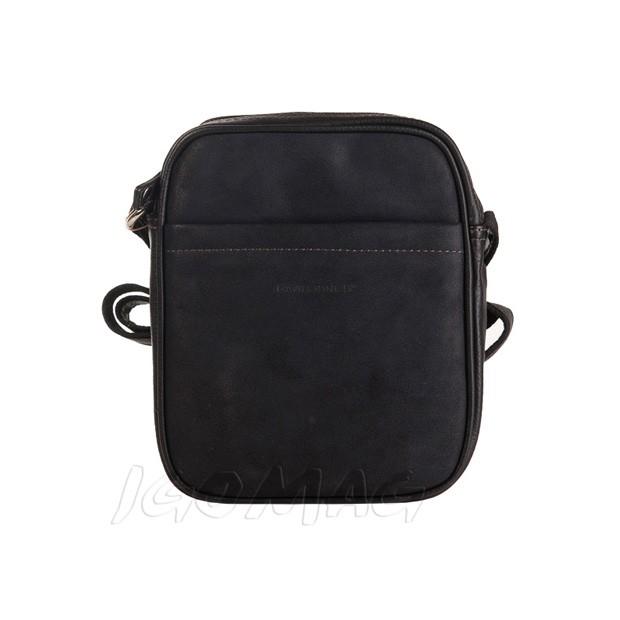 David Jones - Męska mała torba listonoszka na ramię czarna (CM8078)