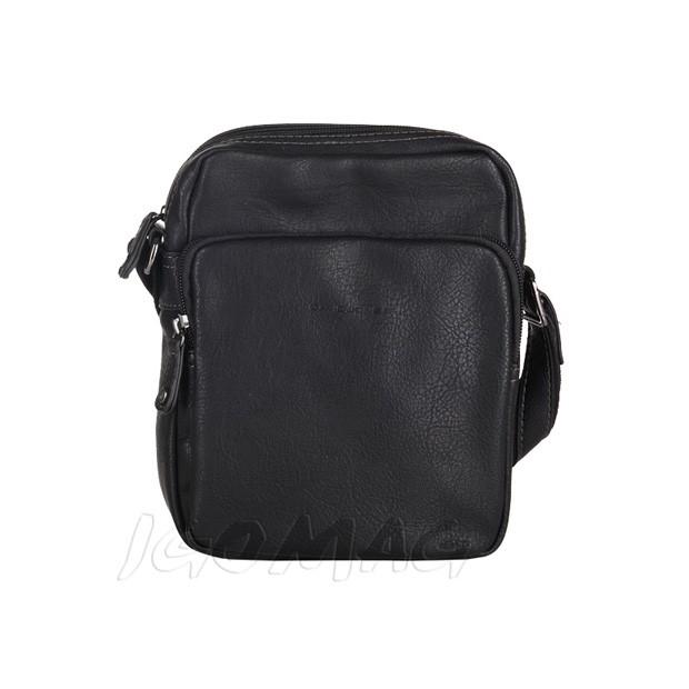 David Jones - Męska mała torba listonoszka na ramię czarna (T403)