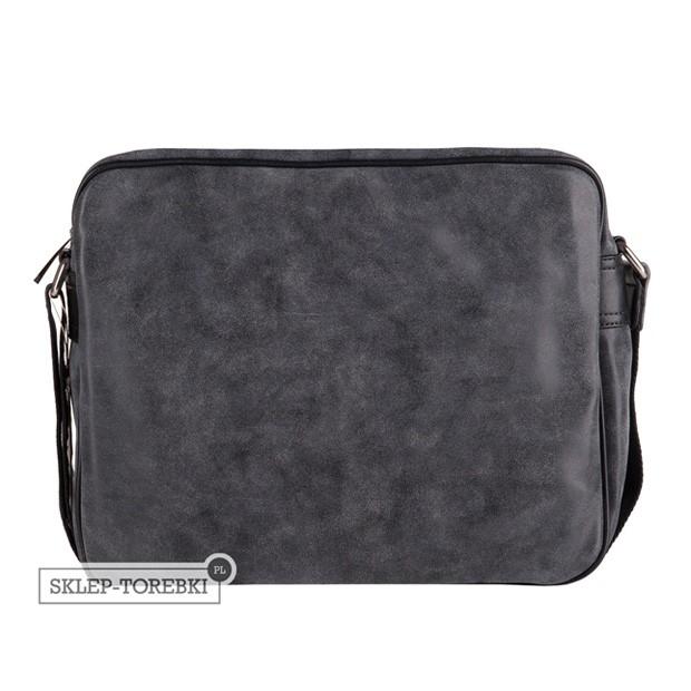 David Jones - duża torba na ramię A4 eko nubuk czarna (CM0773 BLACK)