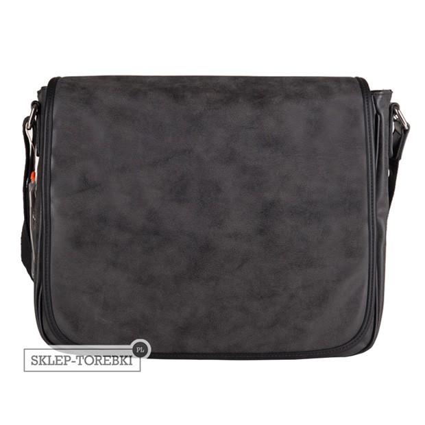 David Jones - duża torba na ramię A4 eko nubuk czarna (CM0774A)
