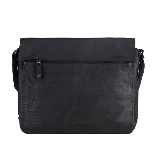 Bever's - Męska torba na ramię czarna A4 (819-2)