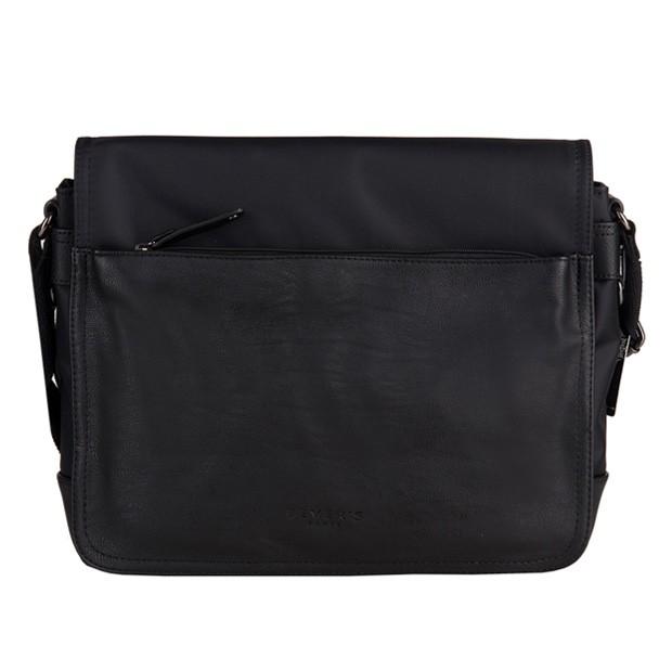Bever's - Męska duża torba na ramię czarna A4 (819-5)