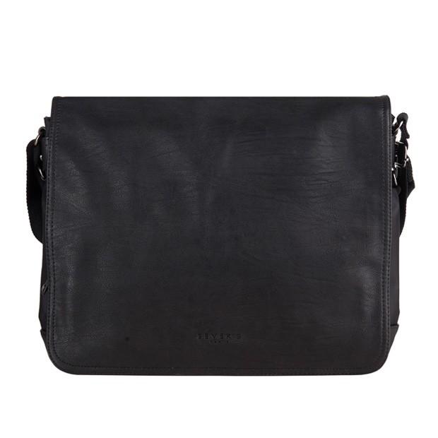 Bever's - Męska duża torba na ramię czarna A4 (819-5A)