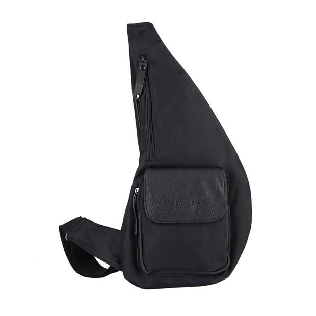 Bever's - Męska torba/plecak przez ramię czarna (T447)