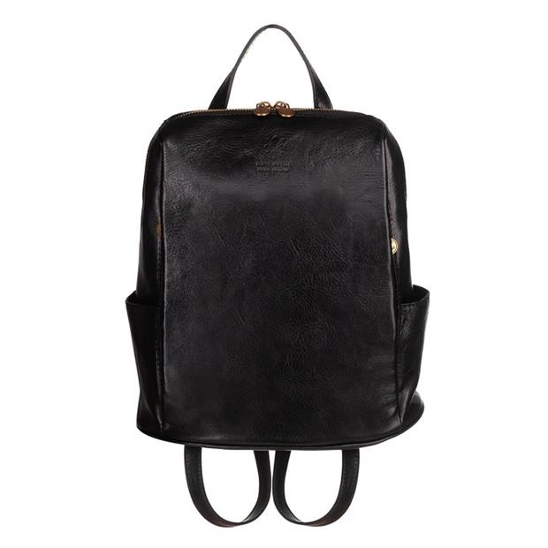 Włoski skórzany plecak czarny (TS-5821-01)