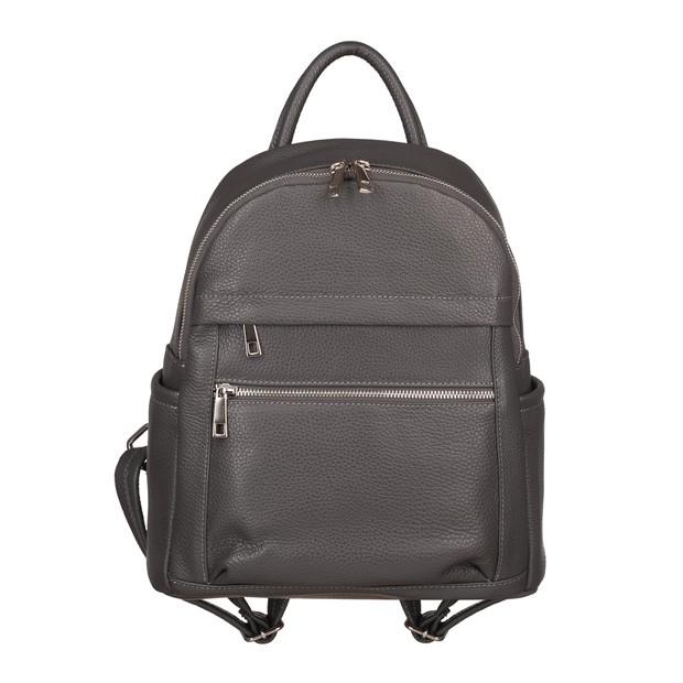 Włoski plecak z kieszeniami skóra dolaro grafitowy (TS-5838-03)