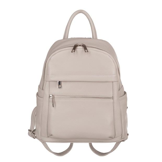 Włoski plecak z kieszeniami skóra dolaro szary (TS-5838-09)