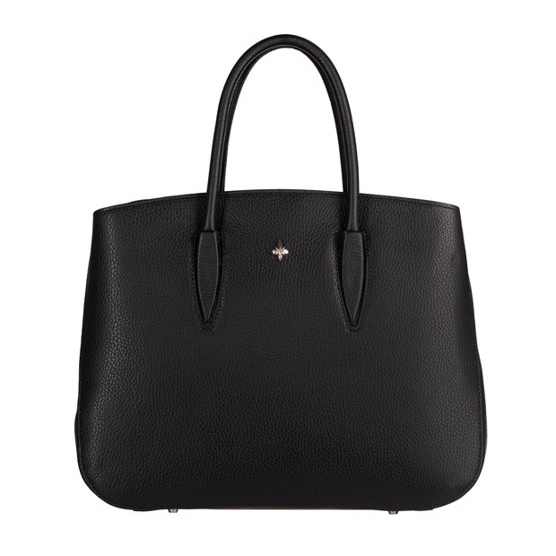 Skórzana torebka kuferek czarny (TS-5845-01)