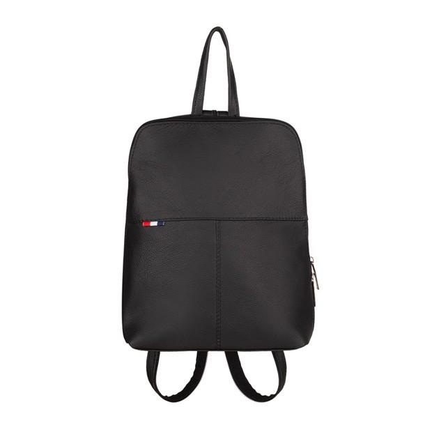 Mały plecak skórzany czarny (TS-5878-01)