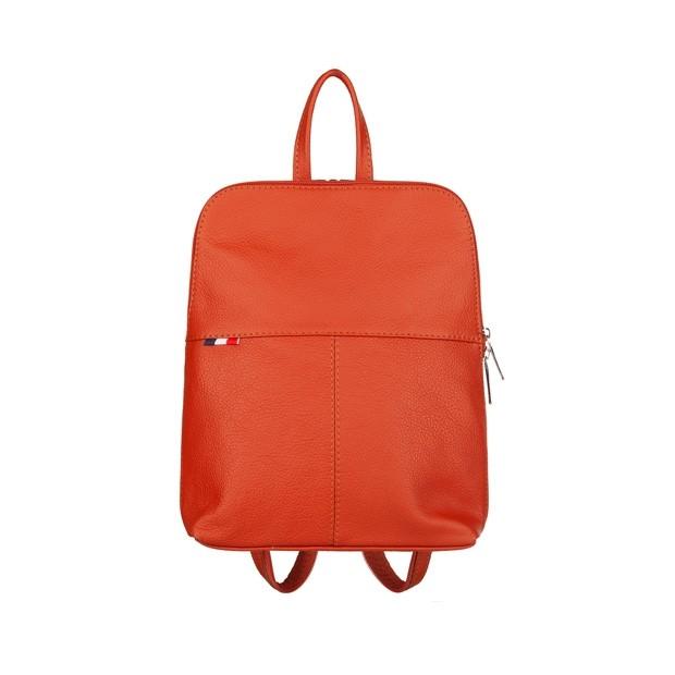 Mały plecak skórzany czerwony (TS-5878-06)