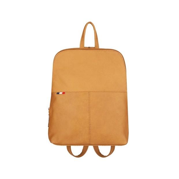 Mały plecak skórzany żółty (TS-5878-12)