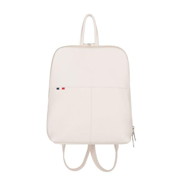 Mały plecak skórzany biały (TS-5878-27)