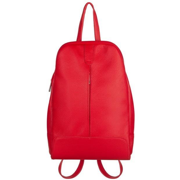 Skórzany plecak czerwony (TS-5882-06)