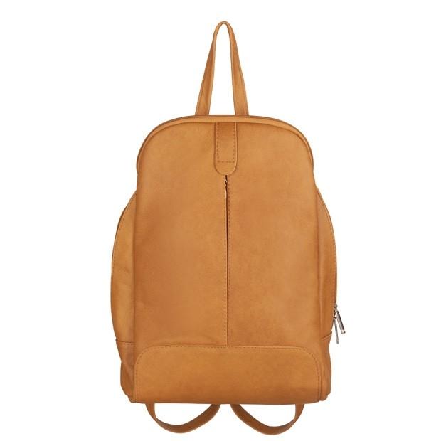 Skórzany plecak żółty (TS-5882-12)