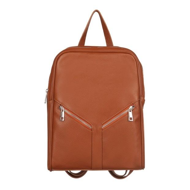 Włoski plecak skóra dolaro camel (TS-5889-05)
