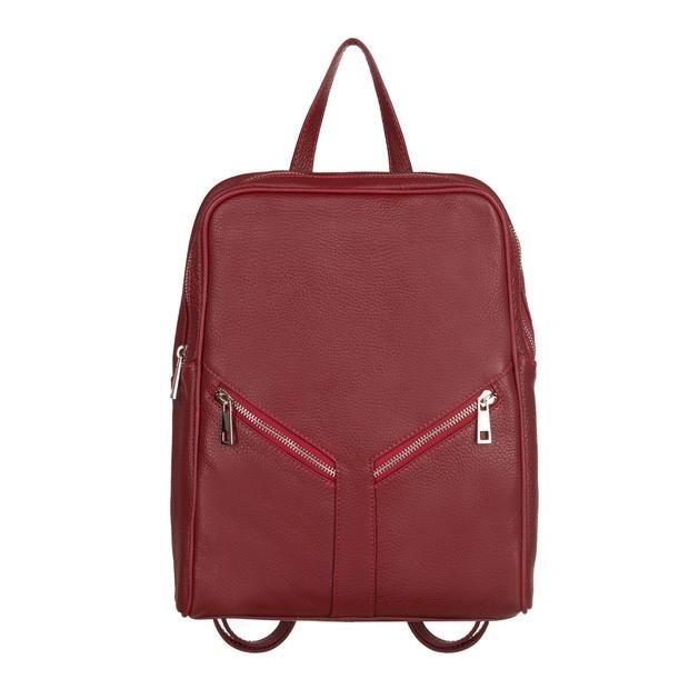Włoski plecak skóra dolaro czerwony (TS-5889-06)
