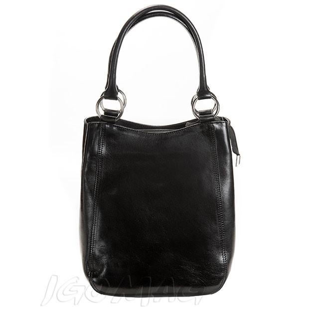 Włoska ekskluzywna torebka 2w1 czarna (0233)