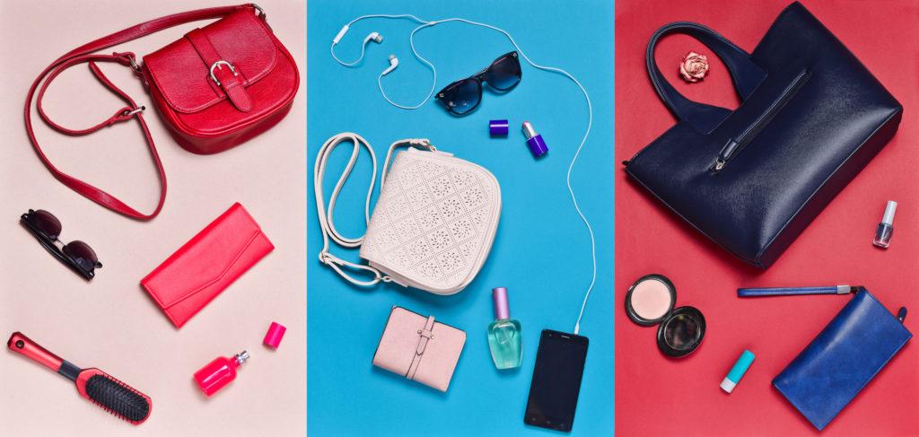 Zawartość damskiej torebki
